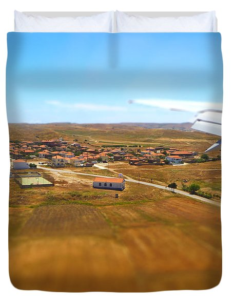 Duvet Cover featuring the photograph Miniature Village by Vicki Spindler