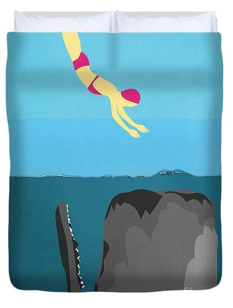 Minimal Sea Life  Duvet Cover by Mark Ashkenazi
