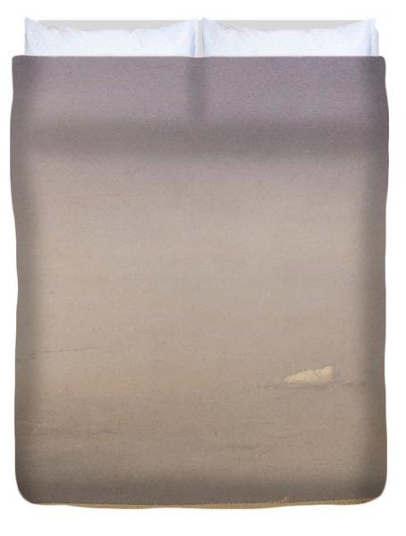 Minimalist Landscape Of A Prairie Grain Duvet Cover by Roberta Murray