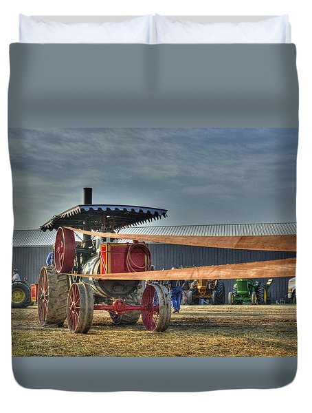 Minneapolis Return Flue Threshing Duvet Cover