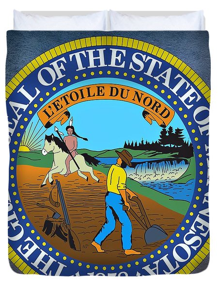 Minnesota State Seal Duvet Cover by Movie Poster Prints