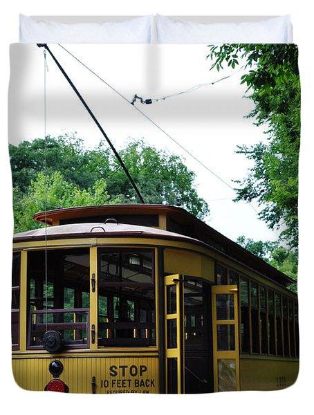 Minnesota Streetcar Museum Duvet Cover
