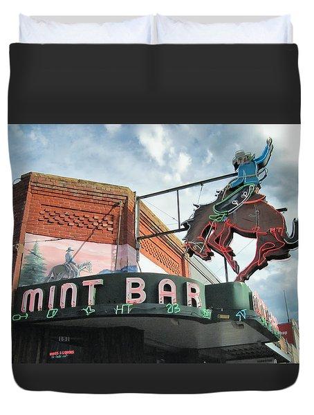 Mint Bar Sheridan Wyoming Duvet Cover