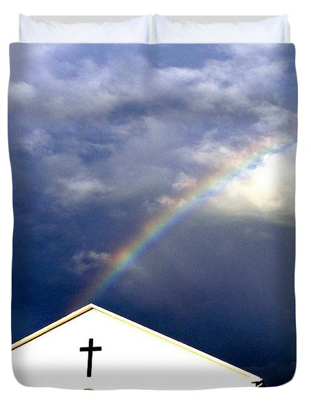 Miracle Birth Today Duvet Cover