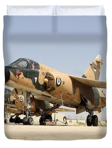 Mirage F.1 Fighter Planes Of The Royal Duvet Cover by Ofer Zidon