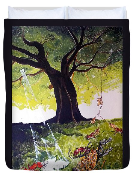 Mirage Of Lives  Duvet Cover