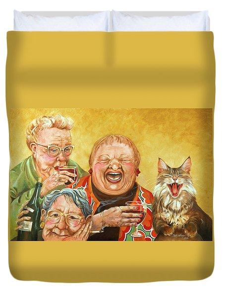 Miriam's Tea Party Duvet Cover