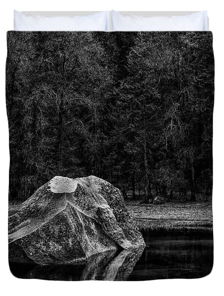 Mirror Lake Boulder Duvet Cover