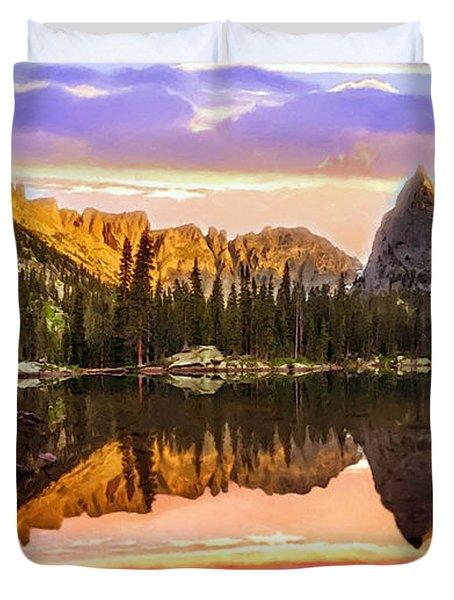 Mirror Lake Yosemite National Park Duvet Cover by Bob and Nadine Johnston
