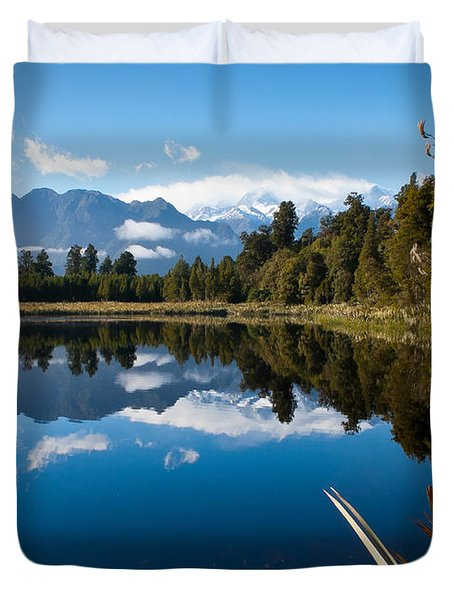 Mirror Landscapes Duvet Cover