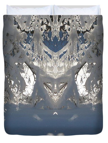 Mirror Of Snow  Duvet Cover