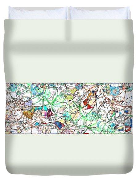 Duvet Cover featuring the digital art Mishagas by Gabrielle Schertz