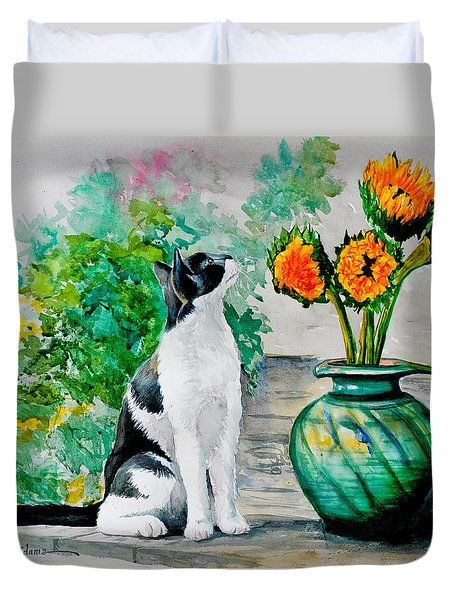 Da129 Miss Kitty Daniel Adams Duvet Cover