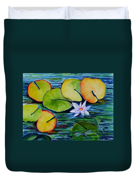 Whimsical Waterlily Duvet Cover