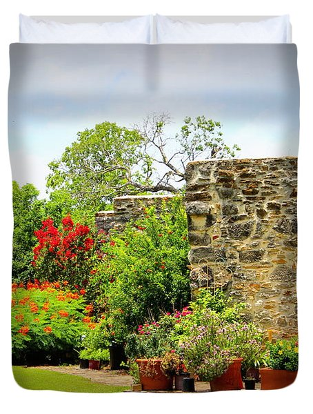 Mission Espada - Garden Duvet Cover by Beth Vincent