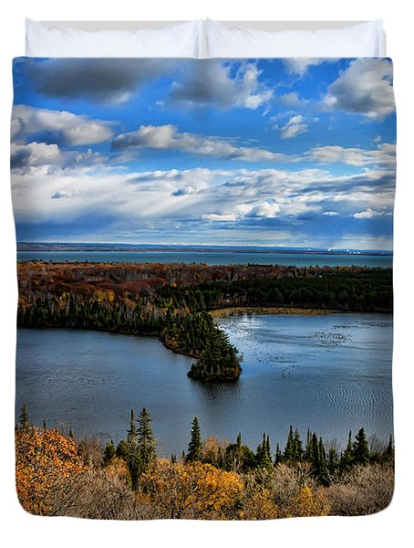 Mission Hill Spectacle Lake Upper Peninsula Michigan Duvet Cover
