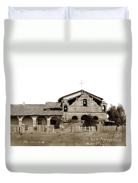 Mission San Antonio De Padua California Circa 1885 Duvet Cover