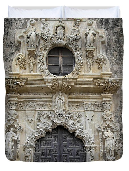 Mission San Jose Doorway Duvet Cover
