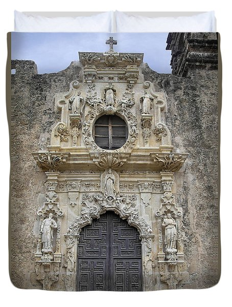 Mission San Jose Doorway Duvet Cover