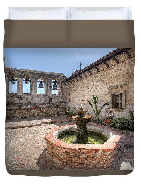 Duvet Cover featuring the photograph Mission Bells San Juan Capistrano by Martin Konopacki