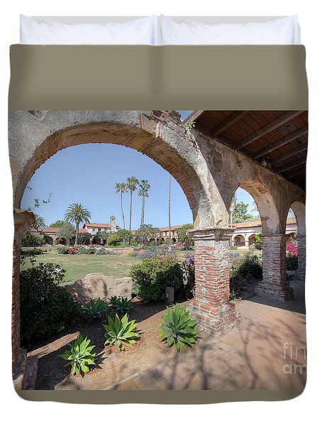 Duvet Cover featuring the photograph Mission San Juan Capistrano by Martin Konopacki