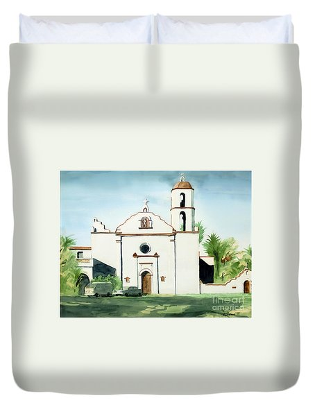 Mission San Luis Rey Colorful II Duvet Cover by Kip DeVore