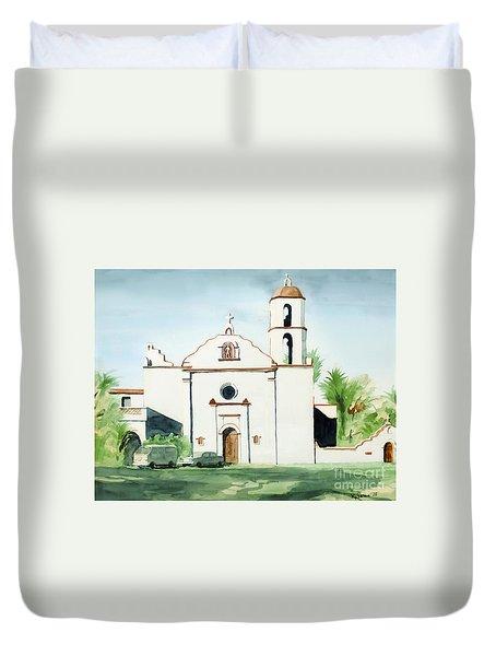 Mission San Luis Rey  Duvet Cover by Kip DeVore