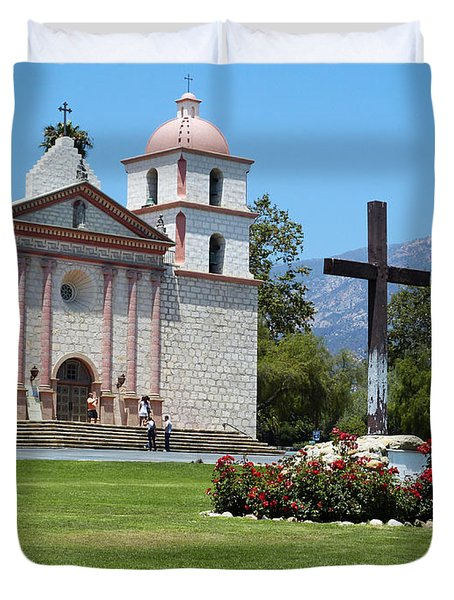 Mission Santa Barbara Duvet Cover by Methune Hively