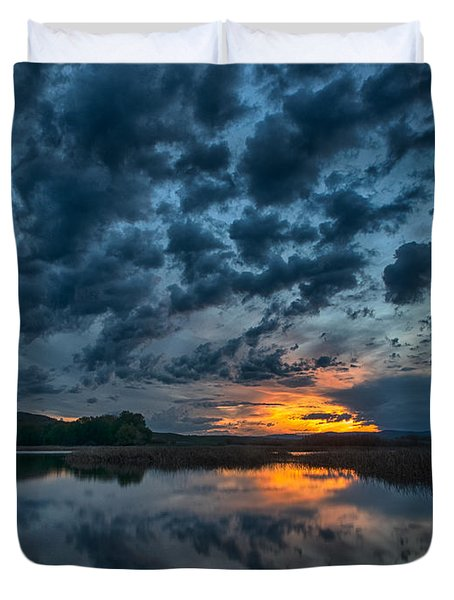 Mission Valley Sunset Duvet Cover