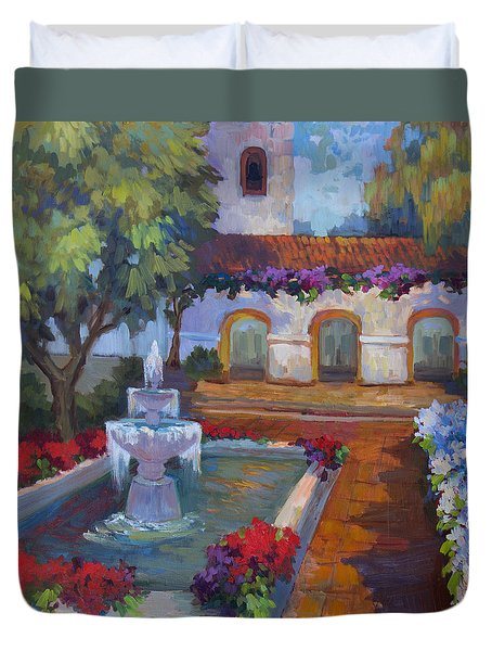 Mission Via Dolorosa Duvet Cover by Diane McClary