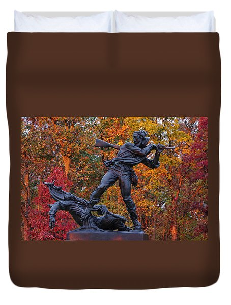 Mississippi At Gettysburg - The Rage Of Battle No. 1 Duvet Cover