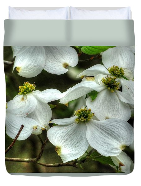 Duvet Cover featuring the photograph Mississippi Dogwood II by Lanita Williams