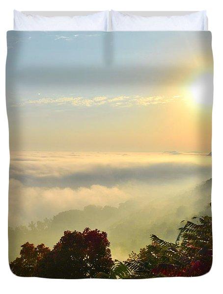 Mississippi River Fog Duvet Cover