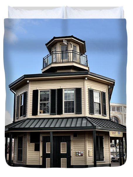 Mississippi River Lighthouse New Orleans Duvet Cover by Bill Cannon
