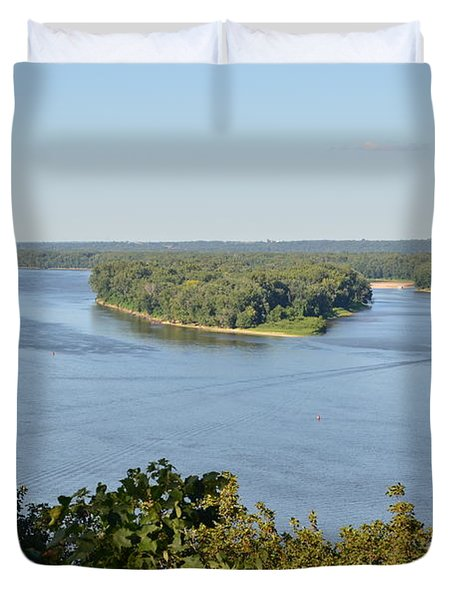 Mississippi River Overlook Duvet Cover by Luther Fine Art