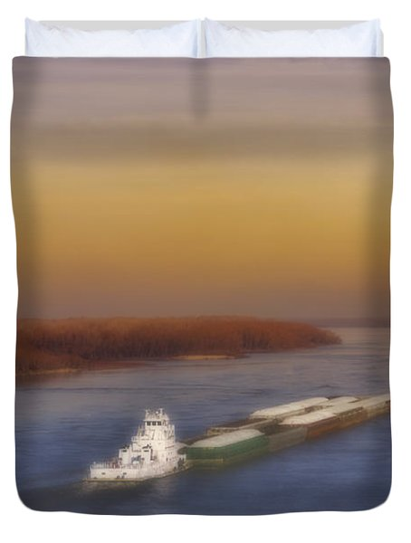 Mississippi Sunset Duvet Cover