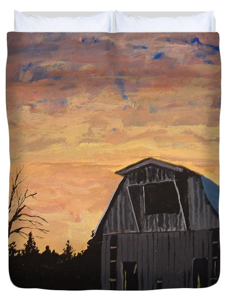 Missouri Barn Duvet Cover by Norm Starks