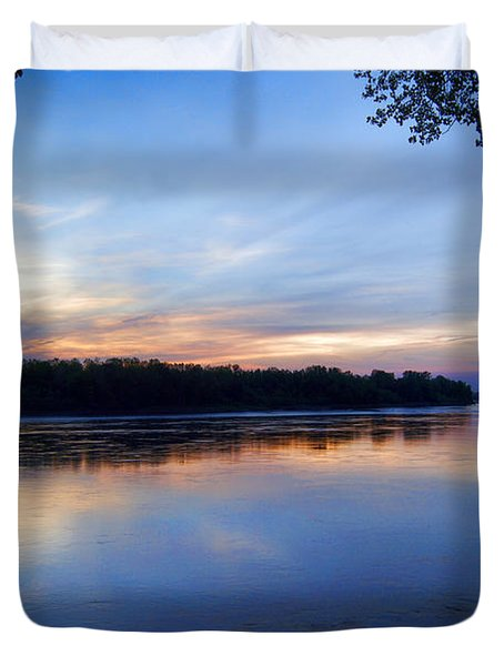 Missouri River Blues Duvet Cover