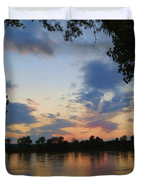 Missouri River Glow Duvet Cover by Cricket Hackmann