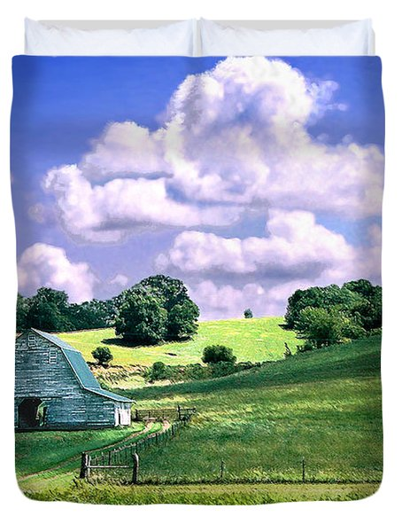 Missouri River Valley Duvet Cover