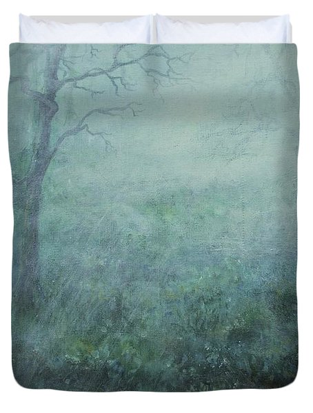 Mist On The Meadow Duvet Cover