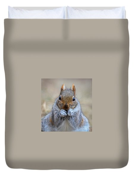 Mister Whiskers Duvet Cover by Amy Porter