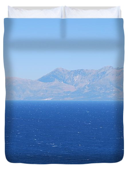 Duvet Cover featuring the photograph Mistral Wind by George Katechis