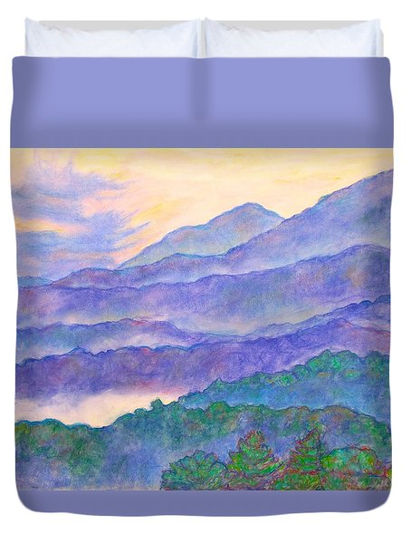 Misty Blue Ridge Duvet Cover by Kendall Kessler