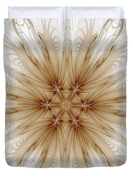 Misty Brown Mandala Duvet Cover