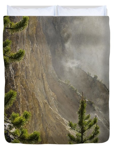 Misty Canyon  Duvet Cover