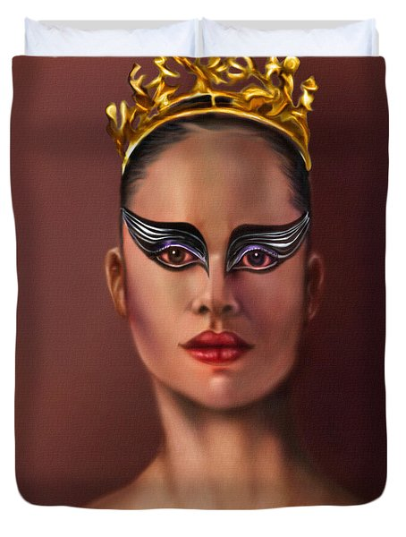 Misty Copeland  As The Black Swan Duvet Cover