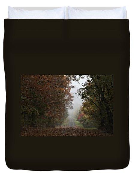 Misty Fall Morning Duvet Cover