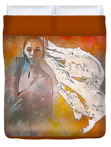 Misty Fire Duvet Cover by Lynda Payton