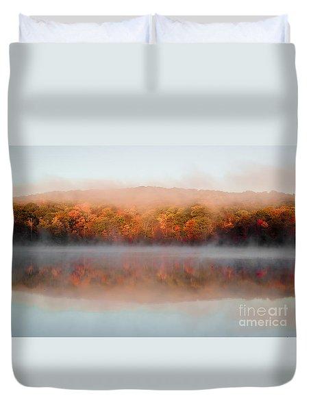 Misty Foilage Duvet Cover